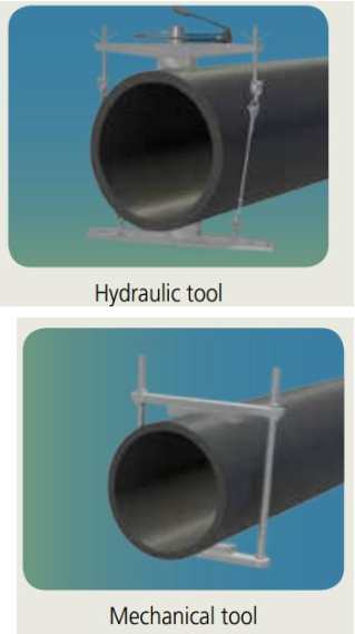 نمونه هایی از ابزارهای گرد کردن لوله و اتصالات دو پهن