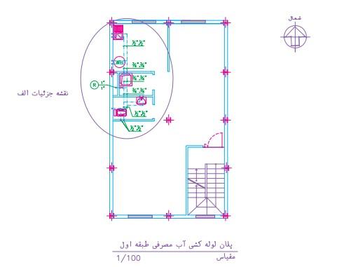 اجراى لوله کشى آب سرد و آب گرم یک ساختمان