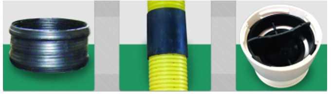 قطعات پلاستیکی برای لوله های آبیاری تاشو