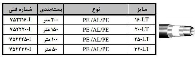 لوله سوپرپايپ PE/AL/PE