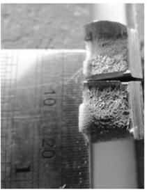 نمونه استخراج شده از درز جوش